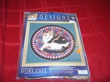 Counted Cross Stitch - Ivory Cats Kit