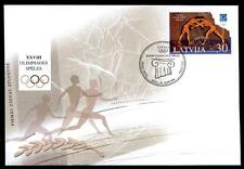 Olympische Sommerspiele 2004, Athen. Antiker Ringkampf. FDC. Lettland 2004
