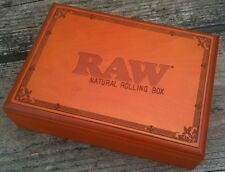RAW Natural Rolling Stash Box with Tray (easily stores tobacco papers tips etc)