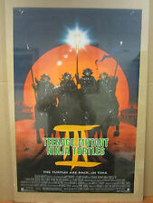 Vintage Teenage mutant ninja turtles III 1992 movie poster 2119