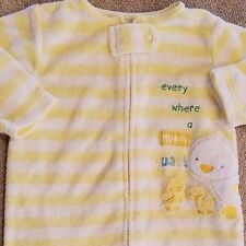 CARTER'S 3 MONTH TERRY CLOTH QUACK DUCK FOOTED SLEEP N PLAY OUTFIT ADORABLE