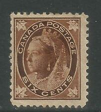 Canada 1897-98 Queen Victoria 6c brown (71) MH