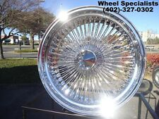 "18"" Inch Chrome Dayton Style 100 Spoke Wire Wheels Set Rims Rear Wheel Drive RWD"
