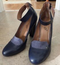 G-STAR Raw Women's leather/denim navy pump heel size US 8 , EUR 39