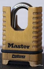 Master Lock 1177 ProSeries Shrouded Brass Resettable Combination Padlock