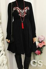 Joe Browns BOHEMIAN Gypsy Embroidered Hippy BOHO Pocket Folk SMOCK dress 10