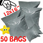 "50 STRONG Post Mailing BAGS Self Seal Poly Plastic Packet Postage Grey 12"" x 16"""