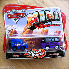 Disney PIXAR Cars MINI ADVENTURES Race Rods SARGE & FILLMORE 2-Pack Hot Flames