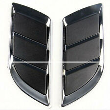 Chrome Silver Exterior Decorative Simulation Air Intake Shark Gills Vent Grille