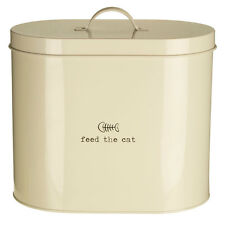 Adore Pets Feed The Cat Food Storage Canister Bin W/Spoon Galvanised Steel 6.5L