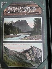 NEW ZEALAND MAORI CARVING MILFORD TRACK MOUNT HART ANTIQUE PHOTO POSTCARD