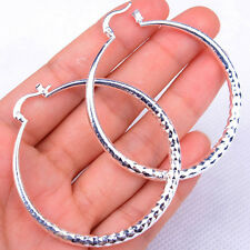Luxury Women's Circle Hot Fashion 925 Sterling Silver Earrings Jewelry H906