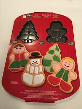 Wilton 2105-0288 Holiday Paint By Numbers Cookie Pan Gingerbread Boy Girl Tree