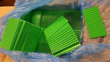 LEGO MiniFigure Base Plate 8x16 Green - LOT of 500 - Thin Small Stud Brick Table