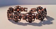 COPPER LACEY SWIRLY FLOWERS MAGNETIC THERAPY BRACELET WOMEN PRO HEALTH