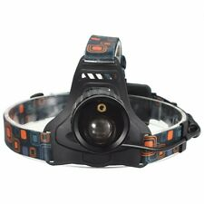 4 Mode LED Zoomable Headlight Headlamp White And Red Laser Light Use 2x 18650 ba