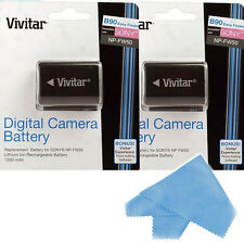 Vivitar 2X Battery NP-FW50 for Sony Cyber-Shot DSC-RX10,SLT A55,A37,A35, A33 cam
