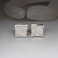 Ohrstecker Ohrringe mit ca. 2,94ct Prinzess Diamant TW-VVS  in 18K Weißgold
