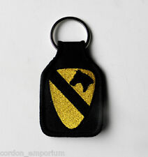 US ARMY 1st CAVALRY DIVISION EMBROIDERED KEY CHAIN KEY RING 1.75 X 2.75 INCHES