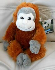 "MONKEY Plush Stuffed Toy WWF WILD REPUBLIC Brown Gray White  7"" NWT"