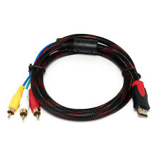 5ft HDMI Male To 3 RCA Video Audio AV Cable Cord Adapters For HDTV DVD HD 1080P