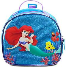 Disney Store Authentic The Little Mermaid Ariel School Lunch Bag Tote Box