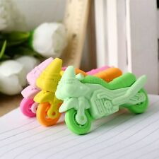 Cool Motorcycle Pattern Rubber Pencil Eraser Stationary Student Rewards Gift Toy