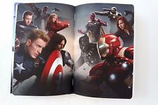 Marvel Civil War Captain America Iron Man Double Sided Hardcover Notebook NEW