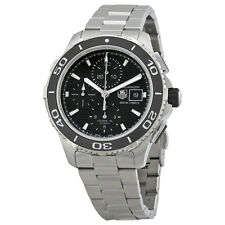 Tag Heuer Aquaracer Black Dial Chronograph Stainless Steel Automatic Mens Watch