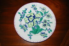 MOTTAHEDEH SEVRES HAND PAINTED GREEN FLOWER LARGE CABINET OR WALL PLATE