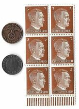 Rare Old Antique German WWII WW2 Nazi Germany Coin Stamp Collection Gift War Lot