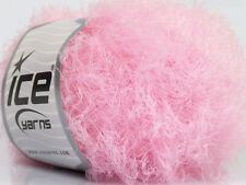 Techno Light - Pink - #43659 - Ice DK Nylon Eyelash Yarn 50 Gram 218 Yards