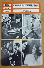 US Romantic Movie Love Is News Tyrone Power Loretta Young French Film Trade Card