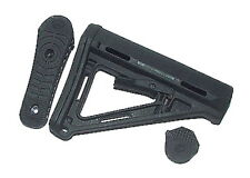 Black PTS Crane Rear Butt Stock for Airsoft M Series AEG