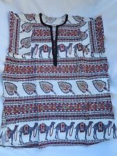 Egyptian Cotton Large Camel Jacket With Black Embroidery Handmade L.