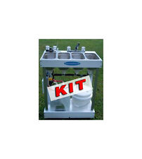 Concession Sink Kit With Parts. 3 Compartment with Hot Water, Hand Washing