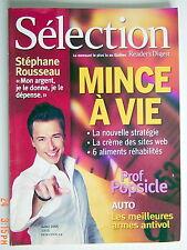 SÉLECTION DU READER'S DIGEST DE JUILLET 2005, EN COUVERTURE STÉPHANE ROUSSEAU