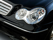 Mercedes W203 C Class Chrome Headlight Headlamp Frames Surrounds Trims
