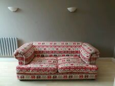 Large vintage AZTEC print quality feather Chesterfield sofa settee LDN DELIVERY