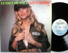 LYNSEY DE PAUL Love Bomb PROMO LP+ Lyric Insert MERCURY cheesecake cleavage