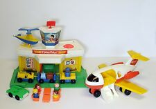 Vintage Fisher Price Little People 2502 Airport Jetport Complete, L@@K!!!