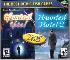 Haunted Hotel 1 & 2 Game Pack WIN CD-ROM 2007 Free USA Shipping!
