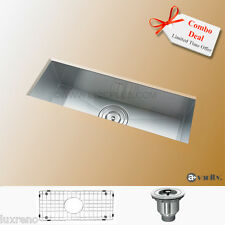 "23""  Under mount Stainless Steel Zero Radius Mini Kitchen Bar Sink KUS2385 Combo"