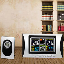 Digital LCD Wireless Weather Station Alarm Clock Thermometer Display Calendar