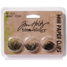 "TIM HOLTZ Idea-ology Metal Tiny Mini Paper Clips .625"" - 48/pkg 3 Finishes"