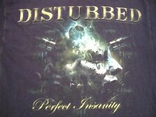 Disturbed Perfect Insanity Metal Band Music Black T Shirt L
