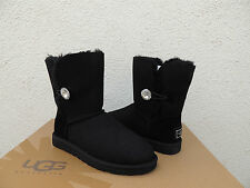 UGG SWAROVSKI BAILEY BUTTON BLING BLACK SUEDE/ SHEEPSKIN BOOTS, US 11/ EU 42~NIB