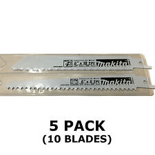 MAKITA RECIPROCATING SAW BLADES - 5 PACKS OF 2 - METAL & WOOD CUT 150mm BJR181