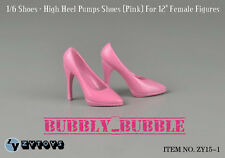 "1/6 Female High Heel Pumps Shoes PINK For Hot Toys 12"" Figures SHIP FROM USA"
