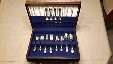 Birks Regency Plate flatware 4 set, with blue velvet interior storage canister